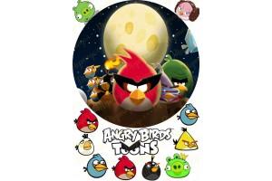 Вафельная картинка Angry Birds № 1