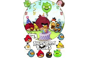 Вафельная картинка Angry Birds № 2