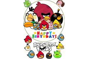 Вафельная картинка Angry Birds № 3
