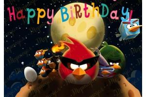 Вафельная картинка Angry Birds № 4