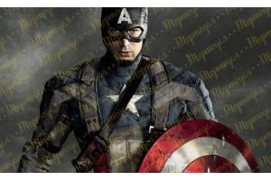 Съедобная картинка Капитан Америка №1