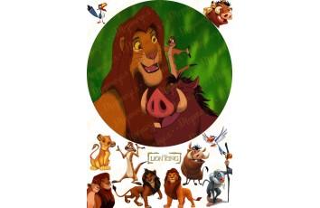 Вафельная картинка Король Лев №3