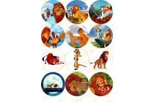Картинка для маффинов и капкейков Король Лев №1