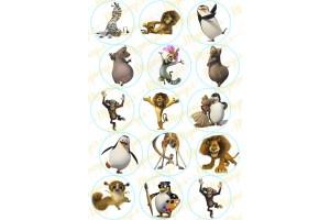 Картинка для маффинов и капкейков  Мадагаскар №1