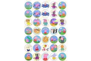 Картинка для маффинов и капкейков Свинка Пеппа №2