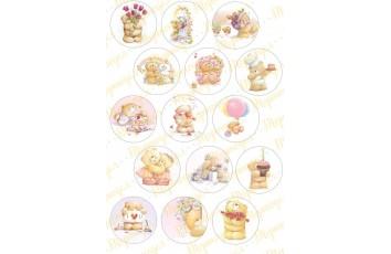 Картинка для маффинов и капкейков Teddy №3