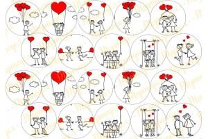 Картинка для маффинов и капкейков Love is №6