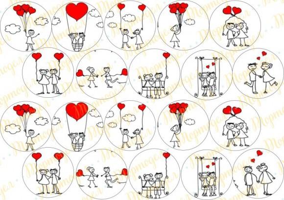 шаблоны свадебных картинок для капкейков вот знаменитая фраза