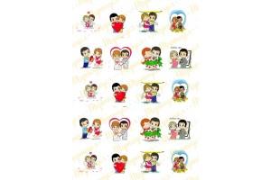 Картинка для маффинов и капкейков Love is №8