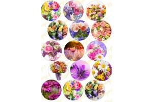 Картинка для маффинов и капкейков Цветы №1