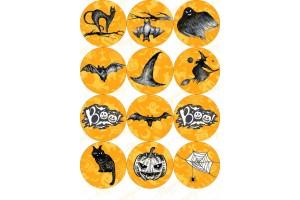 Картинка для маффинов и капкейков Хеллоуин №13