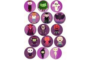 Картинка для маффинов и капкейков Хеллоуин №5