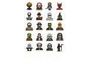 Картинка для маффинов и капкейков Хеллоуин №6