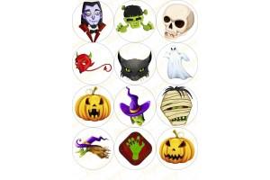 Картинка для маффинов и капкейков Хеллоуин №8