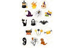 Картинка для маффинов и капкейков Хеллоуин №11