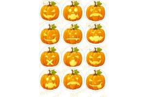 Картинка для маффинов и капкейков Хеллоуин №1