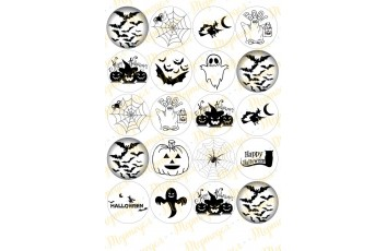 Картинка для маффинов и капкейков Хеллоуин №2