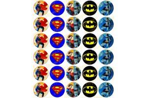 Картинка для маффинов и капкейков Супергерои №2