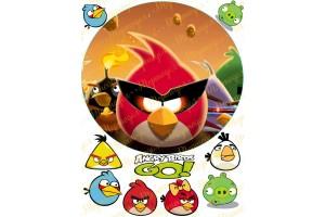 Вафельная картинка Angry Birds № 5