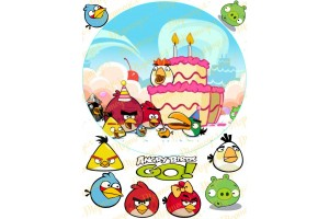 Вафельная картинка Angry Birds № 6