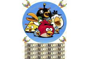Вафельная картинка Angry Birds № 7