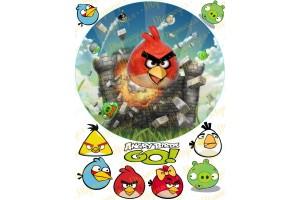 Вафельная картинка Angry Birds № 8