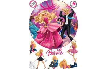 Съедобная картинка Барби №3