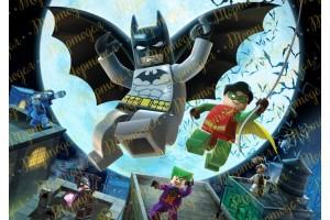 Вафельная картинка Бетмен Лего №1
