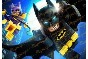 Вафельная картинка Бетмен Лего №2