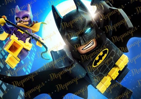 Вафельная картинка  Бетмен Лего №2. Купить вафельную или сахарную картинку Киев и Украина. Цена в интернет магазине Тортодел.