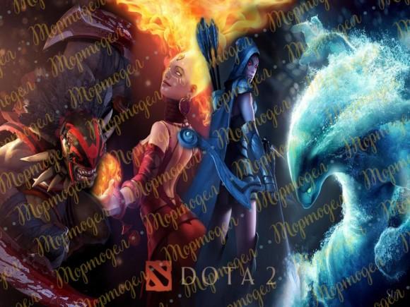 Вафельная картинка   Dota 2 №2. Купить вафельную или сахарную картинку Киев и Украина. Цена в интернет магазине Тортодел.