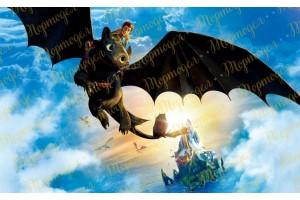 Вафельная картинка Как приручить дракона №1