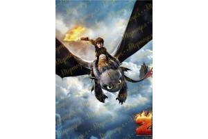 Вафельная картинка Как приручить дракона №2