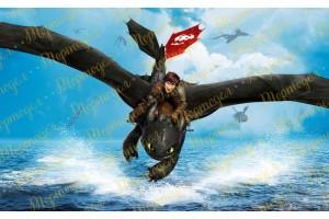 Вафельная картинка Как приручить дракона №3