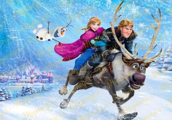 Вафельная картинка Холодное сердце №17. Купить вафельную или сахарную картинку Киев и Украина. Цена в интернет магазине Тортодел.
