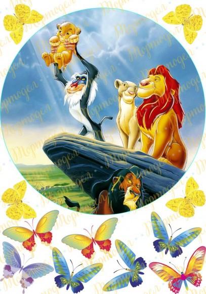 Вафельная картинка Король Лев №7. Купить вафельную или сахарную картинку Киев и Украина. Цена в интернет магазине Тортодел.