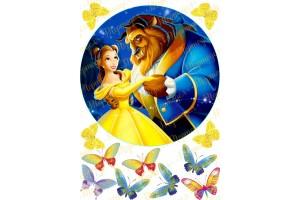 Вафельная картинка Красавица и чудовище №6