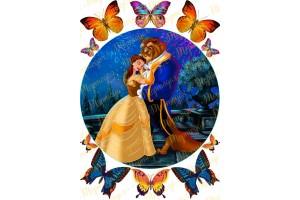 Вафельная картинка Красавица и чудовище №7