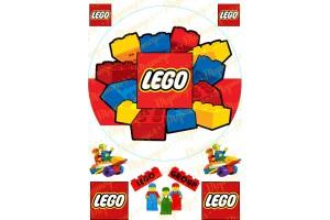 Съедобная картинка Lego №1