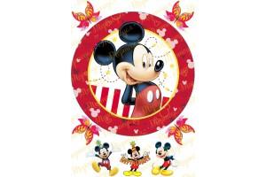 Съедобная картинка Микки Маус №6