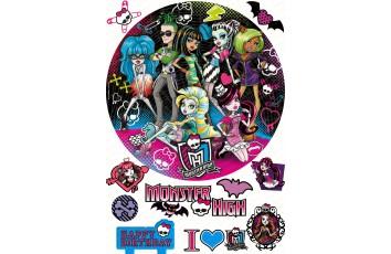 Съедобная картинка Монстер Хай №1 Monster High