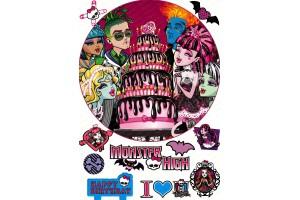 Съедобная картинка Монстер Хай №2 Monster High
