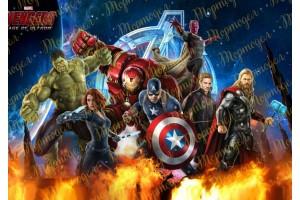 Вафельная картинка Мстители №1