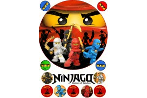 Съедобная картинка Ниндзяго №1 Ninjago