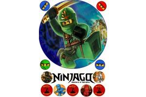 Съедобная картинка Ниндзяго №3 Ninjago
