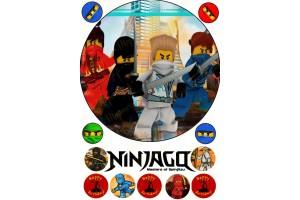 Съедобная картинка Ниндзяго №4 Ninjago