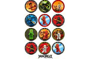 Съедобная картинка на капкейки Ниндзяго №7 Ninjago