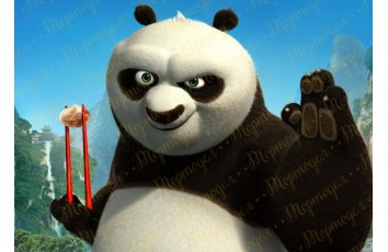 Съедобная картинка Панда Кунг-Фу №10