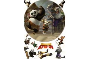 Съедобная картинка Панда Кунг-Фу №3