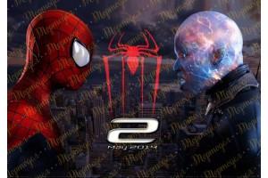 Съедобная картинка Человек Паук Spider man №16